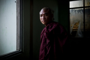 U Gambira who lead the Saffron Revolution in Burma